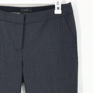 J.Crew Paley Charcoal Pinstripe Pant, Size 6
